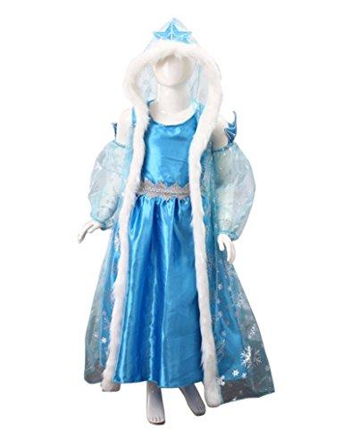3b0fef074 MissFox Disfraces De Niña Disfraz De Elsa Frozen 110CM FTJM