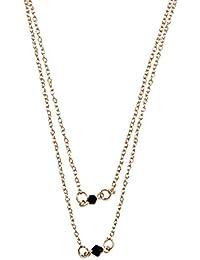 Style Fiesta Women's Black Bead Necklace