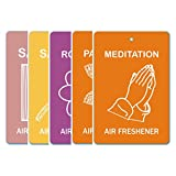 Edelcrafts Car Home Office Paper Hanging Air Freshener (Buy 4 Get 5) - FREE SHIPPING - Choice: Meditation, Patchouli...