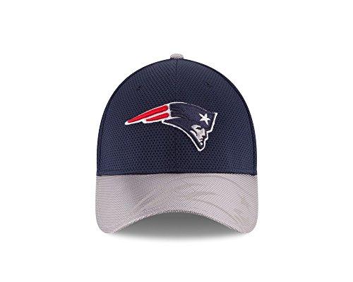 New Era NFL Sideline 39Thirty Cap NEW ENGLAND PATRIOTS Blau Grau, Size:S/M -