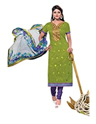 Chanderi Long Straight Top With Cotton Bottom And Pure Heavy Work - B0191QRRKE