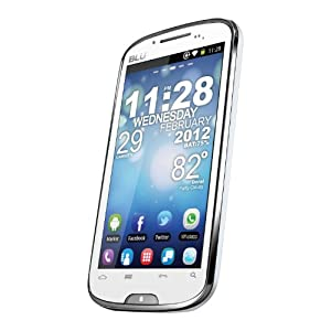BLU D510 STUDIO 5.3 Unlocked Android Quad Band Dual SIM Smartphone with 5.3-Inch Display, 5MP Camera, Wi-Fi and GPS - White