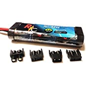 Digital Energy 7.2 V 3300m Ah Ni Mh High Power Rc Battery Pack With Tips Universal Multi Tip (Ec3, Deans, Traxxas...