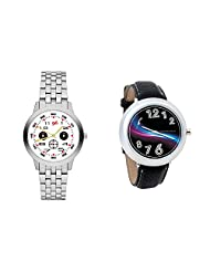 Gledati Men's White Dial And Foster's Women's Black Dial Analog Watch Combo_ADCOMB0001804