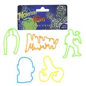 The Mummy Halloween Rubber Bands Bracelets Logo Bandz Wristbands