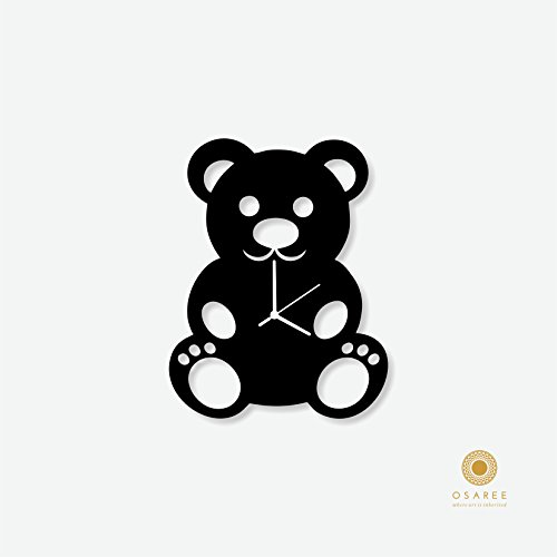 Teddy Bear Decorative Silhouette Wall Clock For Kids Room Decor, Gift For Children