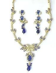 RCJ Gold Brass Necklace Set For Women - B00XN84KFM