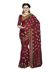 Aadarshini Women's Cotton Saree (4033, Maroon)