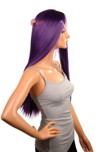 EpicCosplay Eros Royal Purple Bang-less Versatile Cosplay Wig (32RPL)