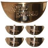 BRASS INDICATOR CAP (set Of 4) AND HEADLIGHT CAP FOR GOLDEN ROYAL ENFIELD BULLET