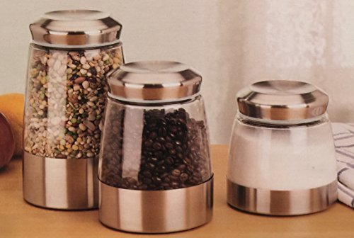 Mainstays Stainless Steel Canister Set, 6 Pieces