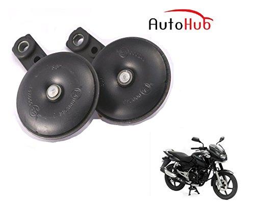 Auto Hub Uno Minda Bike Horn Set For Bajaj Pulsar 150 - Set Of Two (Black)