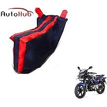 Auto Hub Black Red Bike Body Cover For Bajaj Pulsar 220 F