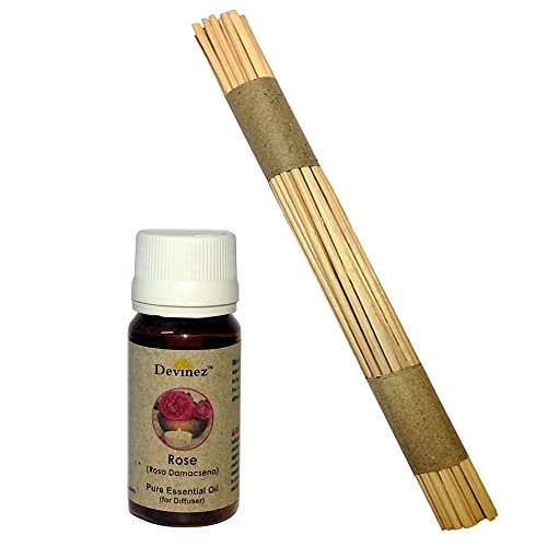 Devinez Premium Reed Sticks/ Refill Pack For Reed Diffusers 10 Inches (100 Sticks) With Free 30ml Rose Oil For...