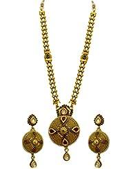 LA TRENDZ Royal Traditional Pendent Multicolour Necklace Set For Women