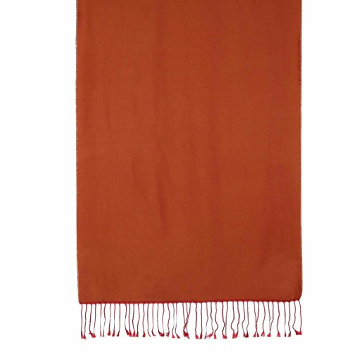 Two Tone Charmeuse Silk Red And Brown Scarf For Women Indian Dress