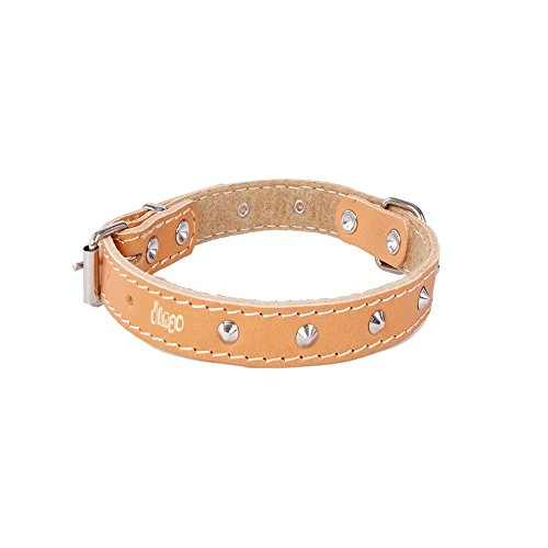 DINGO Leather Decorative Collar Lined with Felt, 10 mm x 24 cm, Natural
