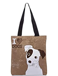 Snoogg Cute Jack Russell Terrier Brilliant Card For Doglovers Designer Poly Canvas Tote Bag