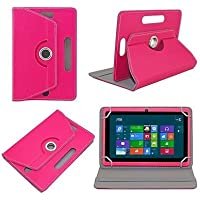"Generic 360° Rotating 7"" Inch Tablet Leather Flip Case Cover Book Cover With Stand For Asus Nexus 7 (2012) -Pink"