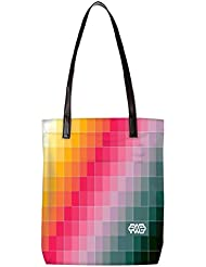 Snoogg Abstract Art Work Womens Digitally Printed Utility Tote Bag Handbag Made Of Poly Canvas With Leather Handle