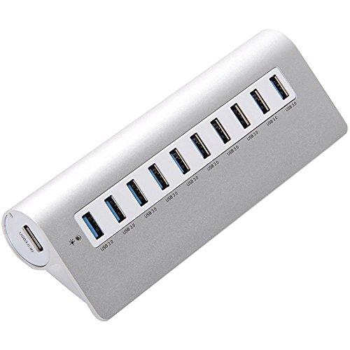 Generic M3H10 Aluminum USB 3.0 10-Port Hub for iMac, MacBook