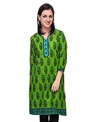 Diti Women Green Printed Kurti - 1026GR