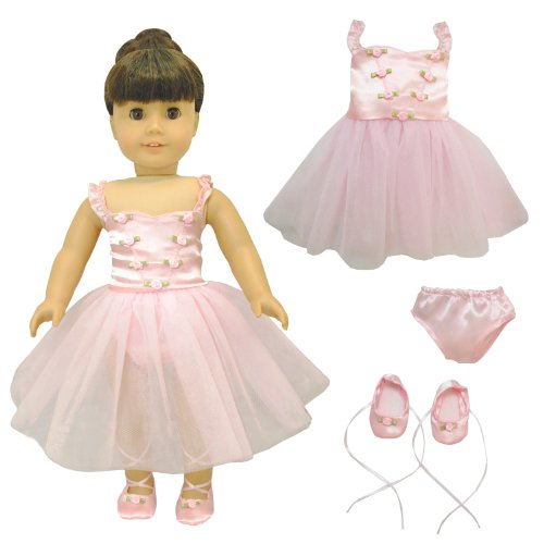Doll Clothes - Ballet Ballerina Dance Dress Clothes Fits American Girl Doll, My Life Doll, Our Generation and other 18 inch Dolls