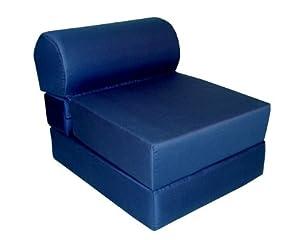 Amazon Jr Twin Size Navy Sofa Chair Sleeper Foam