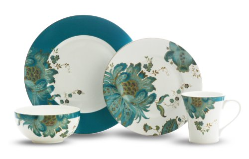 ... Fifth Eliza 16-Piece Dinnerware Set ...  sc 1 st  Simply Beautiful Kitchens & Teal Colored Dinnerware Sets