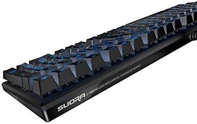 ROCCAT Suora– Frameless Mechanical Gaming Keyboard US Layout (茶軸)正規保証品 ROC-12-201-AS