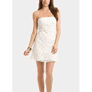 GUESS by Marciano Gabrielle Strapless Battenburg Dress