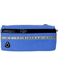 Unisex Running Sports Zipper Belt Bag Travelling Waist Pouch Cycling Waist Bag Phone Case Cover Blue