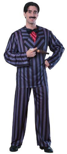 Great Group Halloween Costumes: The Addams Family - The Addams Family Gomez Adams Costume, Black, Standard