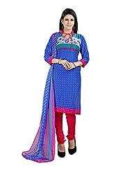 Rudra Fashion Leon Crepe Unstitched Dress Material - B0146Q98H4