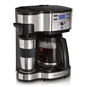 Front view of two way brewer  coffeemaker