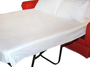 """Amazon Twin Sleeper Sofa Bed Sheet Set White Cotton 300 TC 36""""x72""""x6"""""""