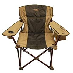 Big & Tall Folding Camp Chair (Super Strong Extra Wide Padded Drink Holder)