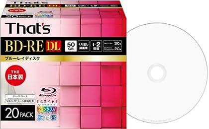 That\\\\\\\'s ブルーレイディスク BD-RE DL くり返し録画用 1-2倍速 360分 50GB 日本製 片面2層 ハードコート仕様 ワイドプリンタブル白 5mmPケース20枚入 BREV50WWP20S