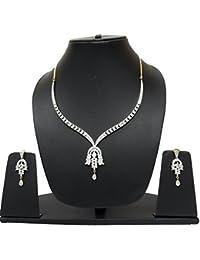 Navya Collection American Diamond Designer Necklace