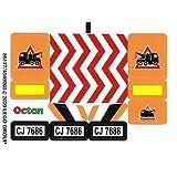 Lego Original Sticker For City Set #7686 Helicopter Transporter