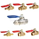 Generic Male Thread To 5/16 Air Pipe T. . . : 3/8 : Various Ball Valve Threaded Stainless Steel Water Oil Switch...