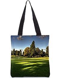 Snoogg Tress In Park Digitally Printed Utility Tote Bag Handbag Made Of Poly Canvas