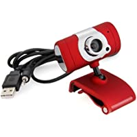 PC Camera - TOOGOO R USB 2.0 HD Webcam Camera With Microphone For PC Laptop Swivel Black Red