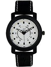 LegendDeal Men's New Designer Full White Black - Dot Volga Casual Sport Look Sweeping Second Hand Analog Watch...
