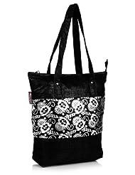 Home Heart Women's Eco Friendly Tote Bag (Silver/Black)