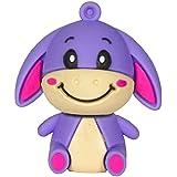 Zeztee Cartoon Character Shape 16GB Pen Drive ZTRBPD12000_PU USB 2.0 (Purple)