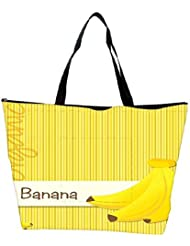 Snoogg Bright Organic Banana Card In Vector Format Waterproof Bag Made Of High Strength Nylon