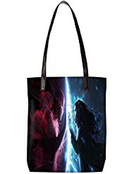Snoogg Art Work Magic Hunter Womens Digitally Printed Utility Tote Bag Handbag Made Of Poly Canvas With Leather...