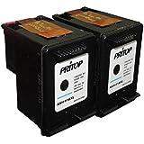 61 XL - 2 Black Ink Cartridge For HP Desk Jet 2540 2545 1512 2510 3512 3510, HP Office Jet 2620, 2621, 4630, 4632, 4635 Single Black Inkjet Cartridge By PRITOP.