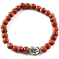 Eshoppee Natural Stone Buddha Bracelet With Silver Buddha Bead For Men And Women
